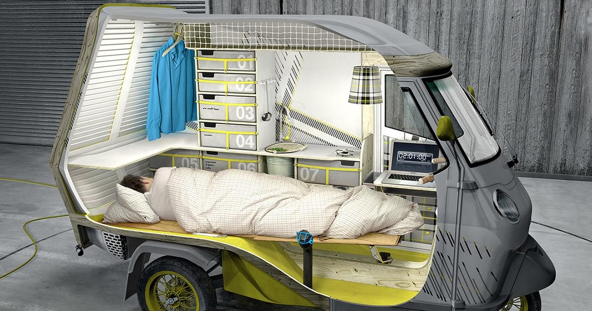 單身狗就是能說走就走 瓦斯爐、冰箱全配「一人露營車」舒適旅遊