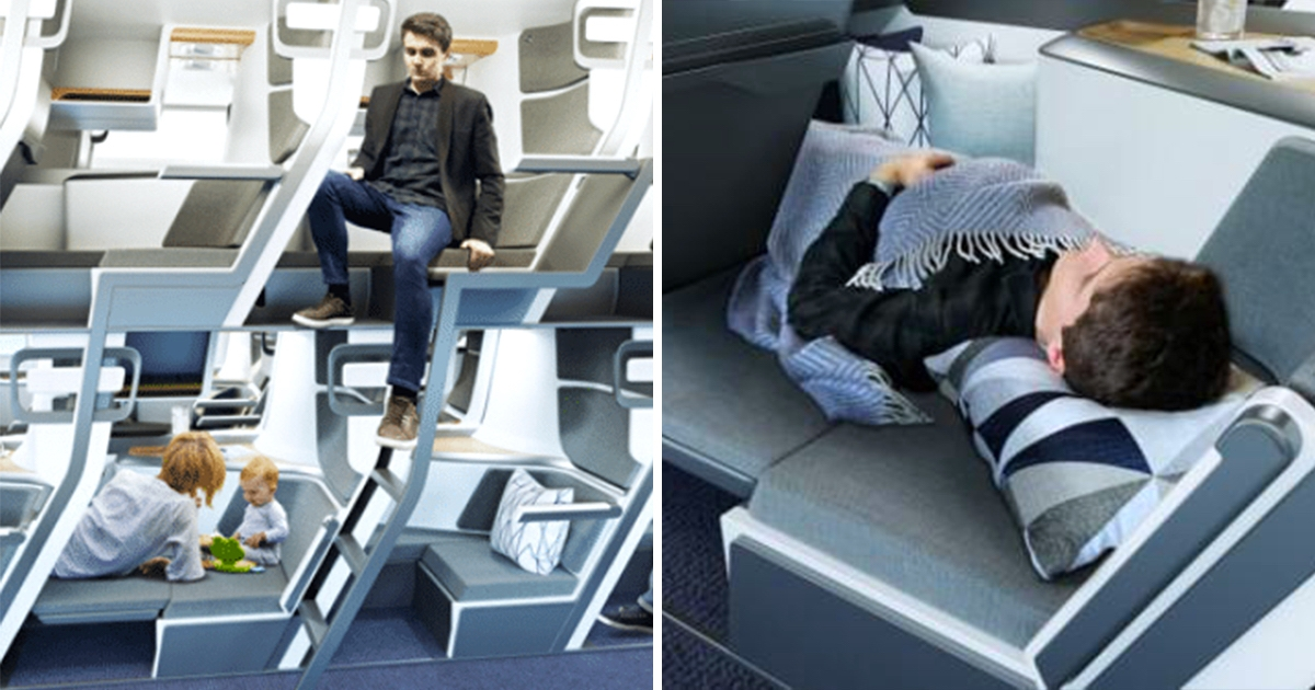 飛機也有上下鋪? 新設計「雙層座位」保持社交距離、經濟艙也可躺下