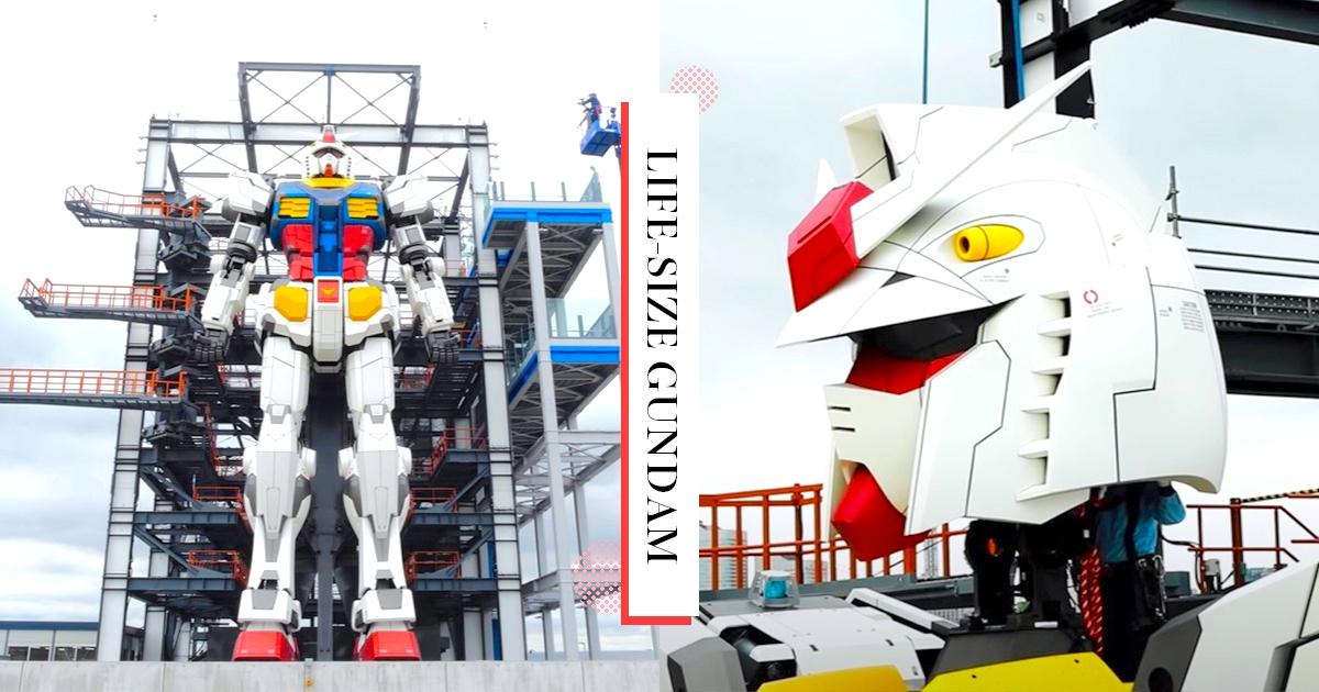 【日本】帥到腿軟!橫濱18米1:1鋼彈「頭部組裝完成」 可動超巨模型此生必須朝聖!